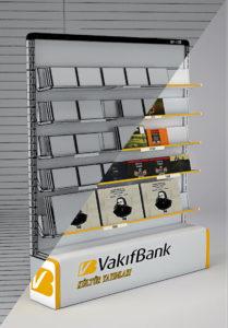 3D tasarım vakıf bank  kitap standı-yandan-3